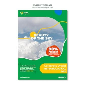 Affiche de la journée météorologique mondiale
