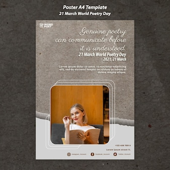 Affiche de la journée mondiale de la poésie