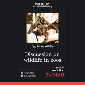 Affiche de la journée mondiale de la vie sauvage