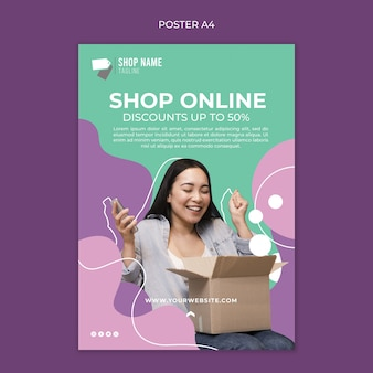 Affiche de magasinage en ligne
