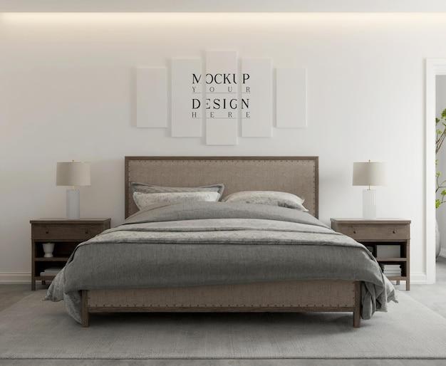 Affiche de maquette dans une chambre contemporaine moderne