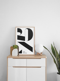 Affiche sur la maquette du cabinet