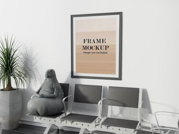 Affiche de maquette de salle d'attente