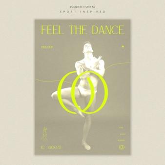 Affiche de modèle d'académie de danse