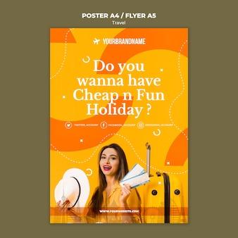 Affiche de modèle d'agence de voyage
