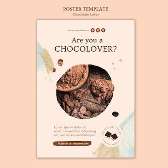 Affiche de modèle d'amant de chocolat