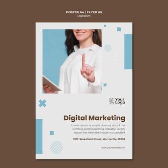 Affiche de modèle d'annonce commerciale