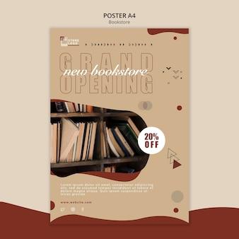 Affiche de modèle d'annonce de librairie