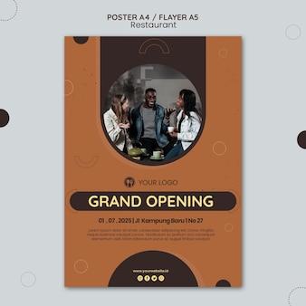 Affiche de modèle d'annonce de restaurant
