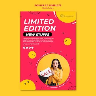 Affiche de modèle d'annonce de vente