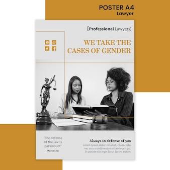 Affiche de modèle de cabinet d'avocats