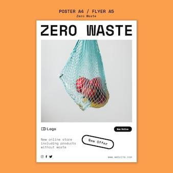 Affiche de modèle de conception zéro déchet