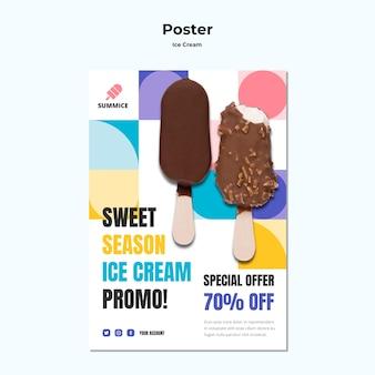 Affiche de modèle de crème glacée
