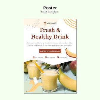 Affiche de modèle de jus de fruits
