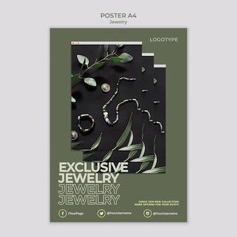 Affiche de modèle de magasin de bijoux