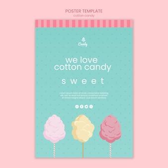 Affiche de modèle de magasin de bonbons