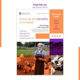 Affiche De Modèle De Magasin électronique Psd gratuit