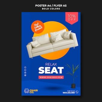 Affiche de modèle de magasin de meubles