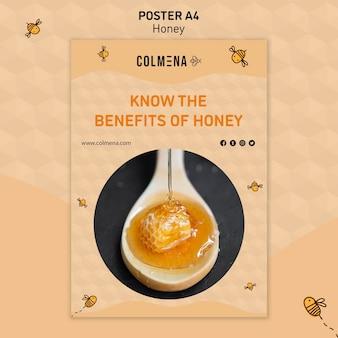 Affiche de modèle de magasin de miel