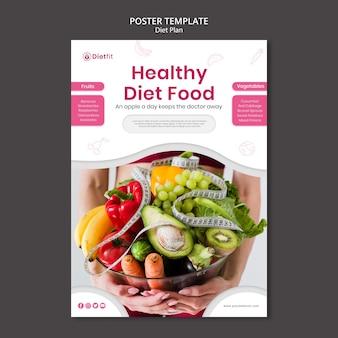 Affiche de modèle de plan de régime