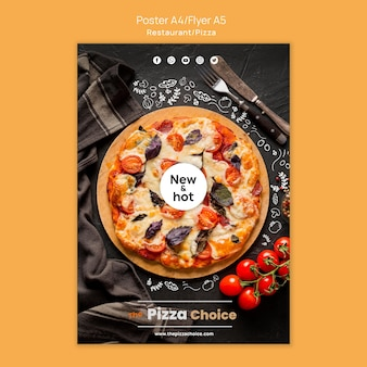 Affiche de modèle de restaurant de pizza