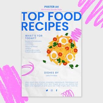 Affiche de modèle de site web de recettes