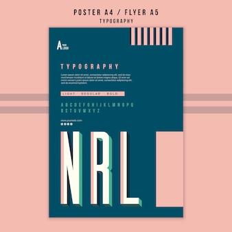 Affiche de modèle de typographie
