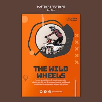 Affiche de modèle de vélo de saleté