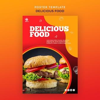Affiche de nourriture délicieuse