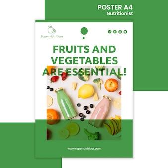Affiche nutritionniste avec photo