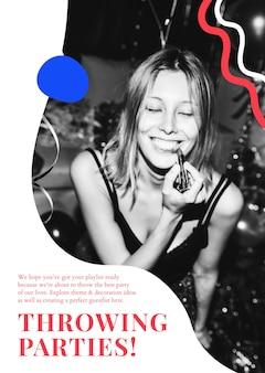 Affiche d'organisation d'événements psd de modèle d'annonce de soirées de lancement