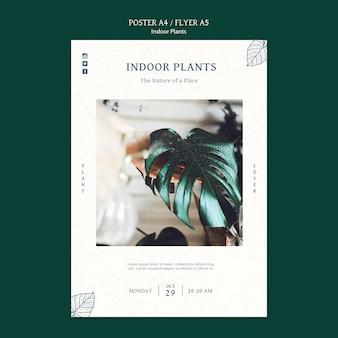 Affiche de plantes d'intérieur avec photo