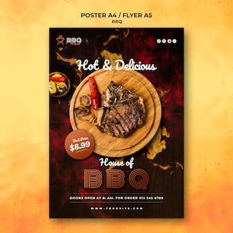 Affiche pour barbecue