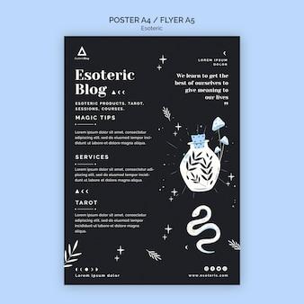 Affiche pour blog ésotérique