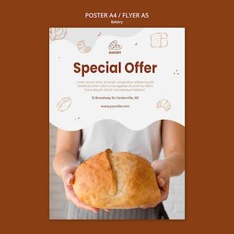 Affiche pour boulangerie de pain