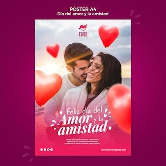 Affiche pour la célébration de la saint valentin