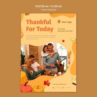 Affiche pour la célébration de thanksgiving