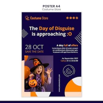 Affiche pour les costumes d'halloween
