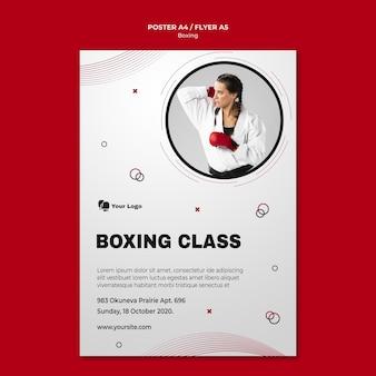 Affiche pour l'entraînement de boxe