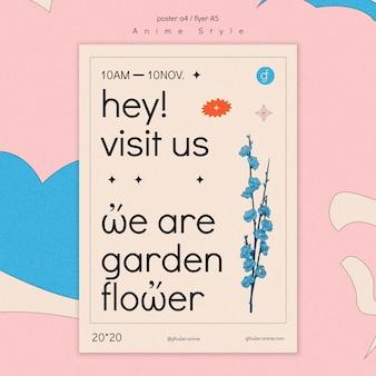 Affiche pour jardin fleuri