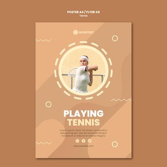 Affiche pour jouer au tennis
