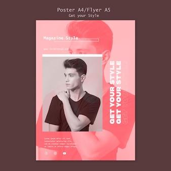 Affiche pour magazine de style électronique