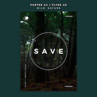 Affiche pour la nature sauvage
