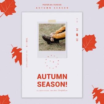 Affiche pour la nouvelle collection de vêtements d'automne