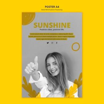 Affiche pour le positivisme