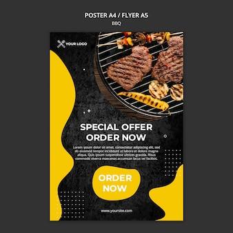 Affiche pour restaurant barbecue