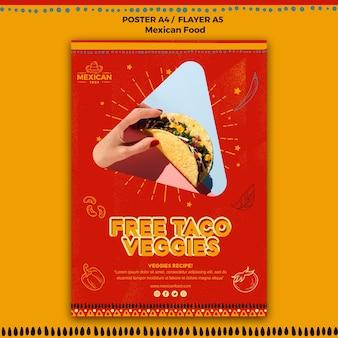 Affiche pour le restaurant de cuisine mexicaine