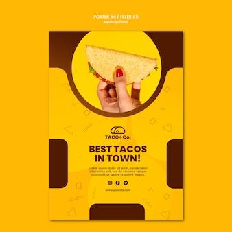Affiche pour restaurant mexicain