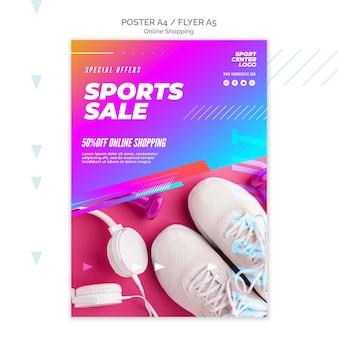 Affiche pour la vente de sports en ligne