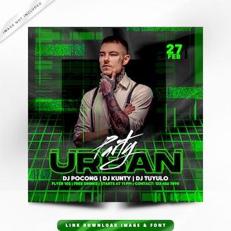Affiche premium urban party